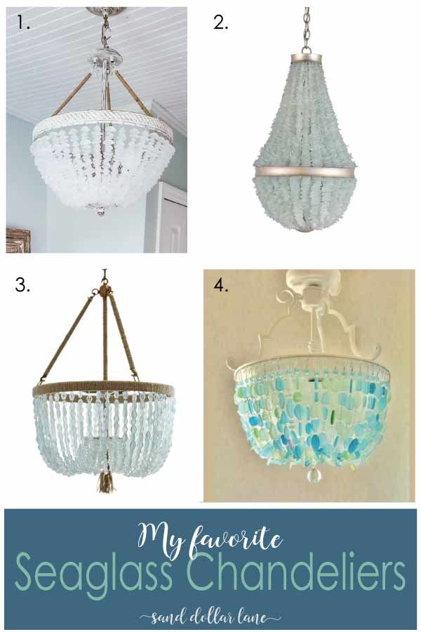 seaglass chandeliers