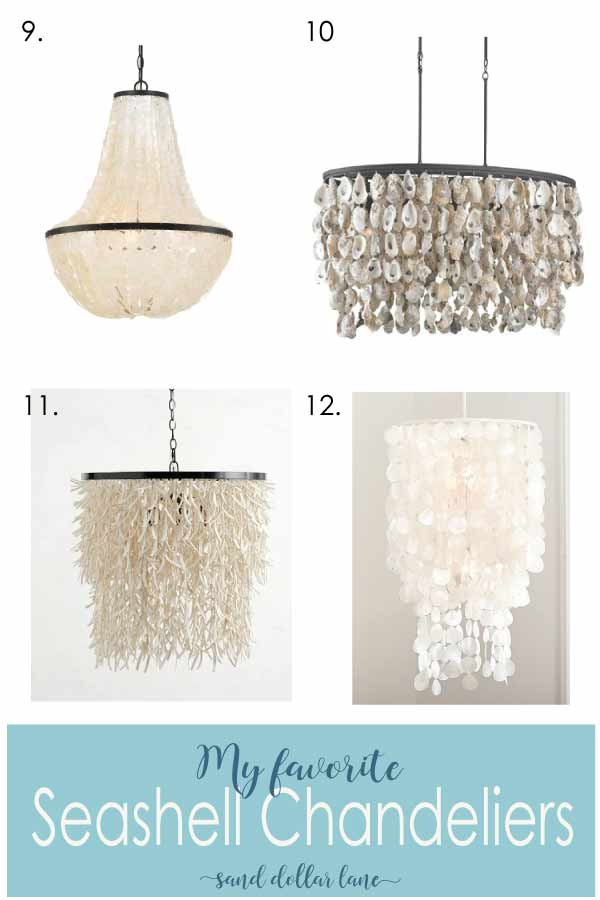 chandeliers made from seashells