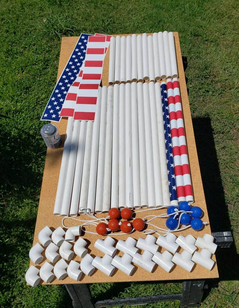 supplies needed to build a ladder golf game