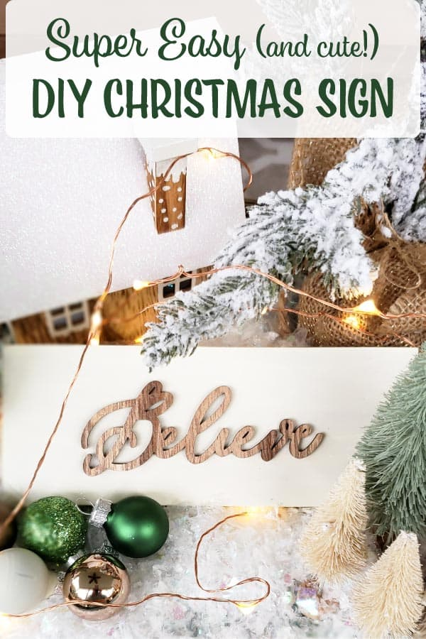 DIY Christmas sign