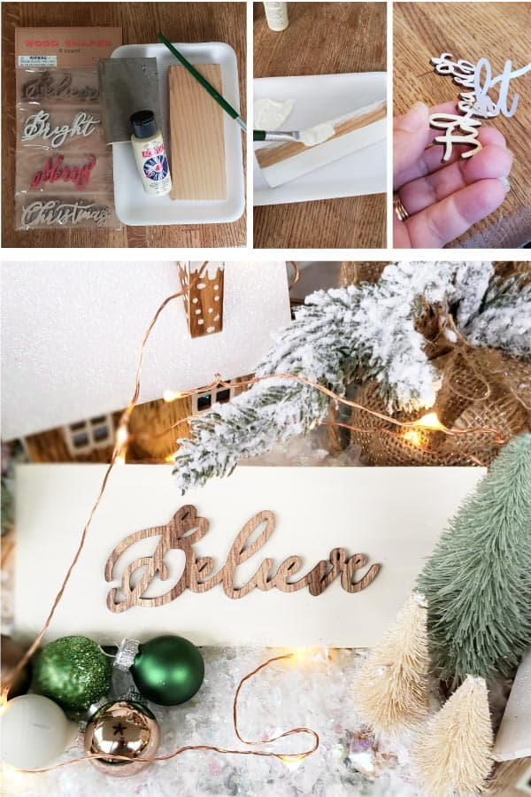 diy Christmas sign tutorial
