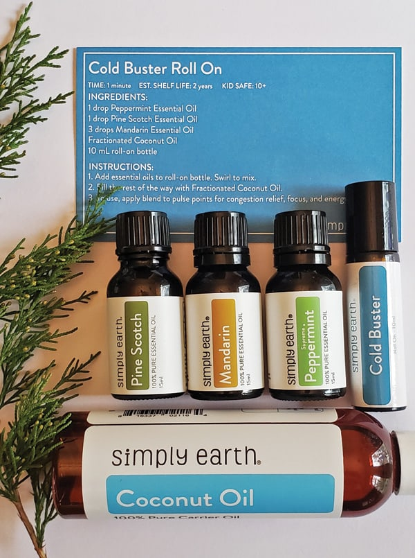 cold relief essential oil recipe