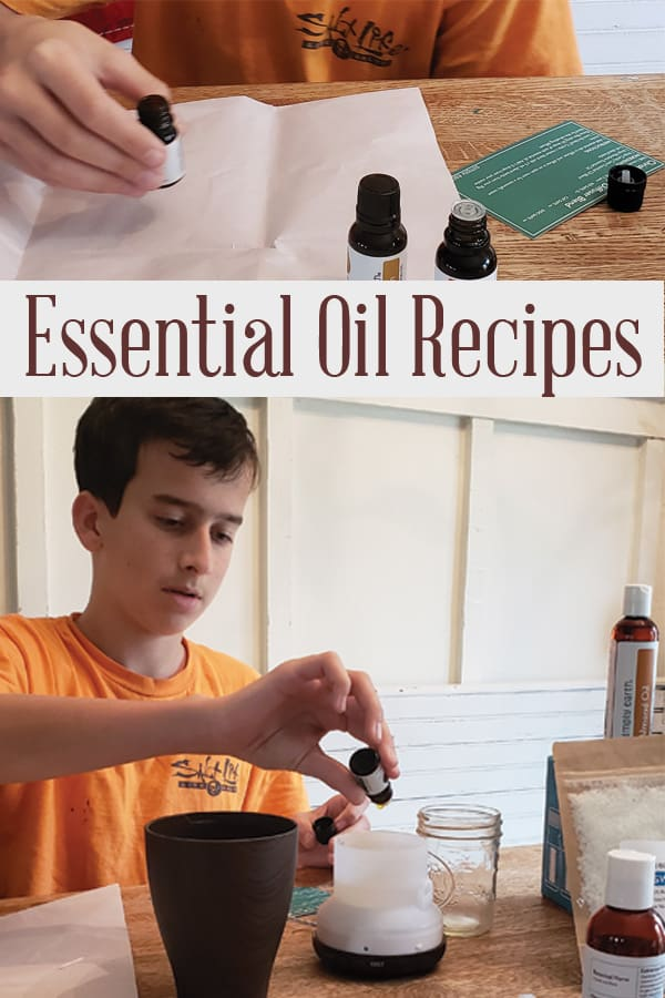 making essential oil recipes with kids