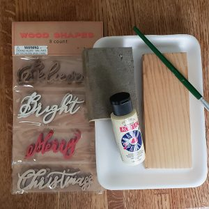 supplies for DIY sign