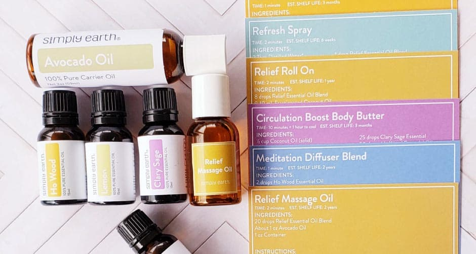essential oils recipe box