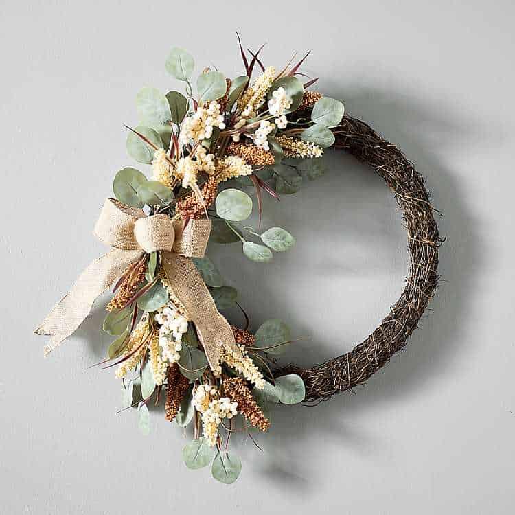 fall porch eucalyptus wreath