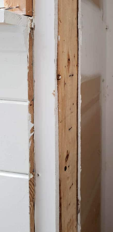 removing door frame