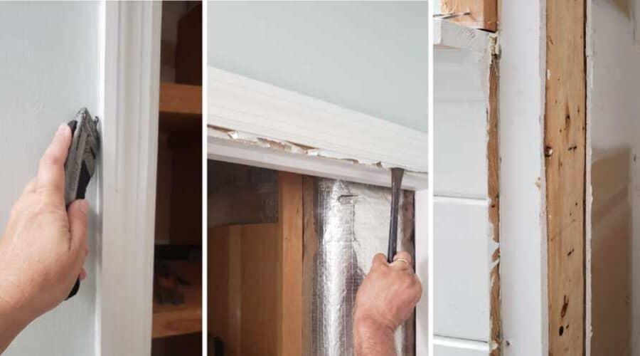 closet door frame