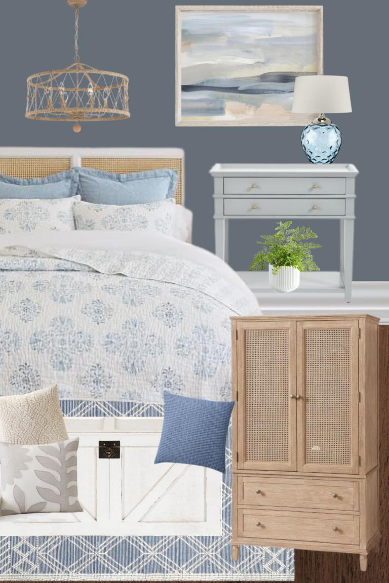 Coastal Master Bedroom Decorating Ideas & Mood Board