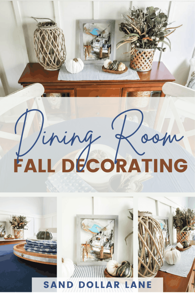 fall decorations in small dining room